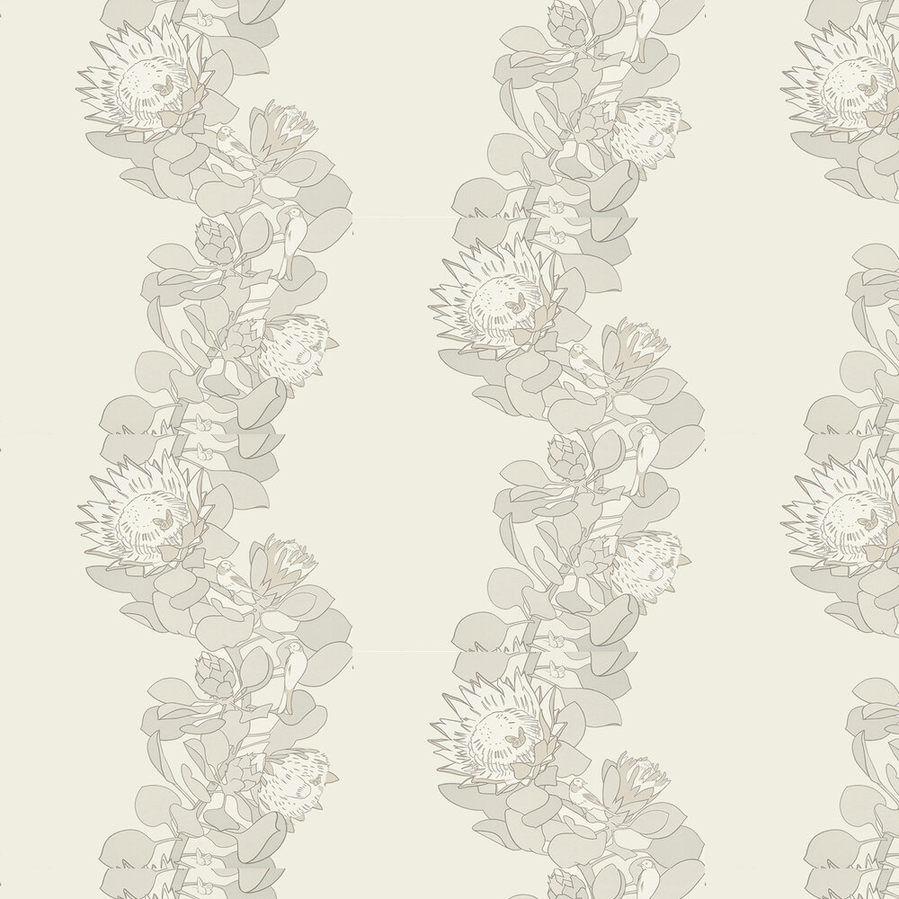 Protea Trail Wallpaper - Slate - by Paint & Paper Library
