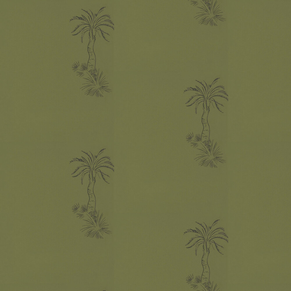 Lighthouse Palm Wallpaper - Chelsea Green - by Paint & Paper Library