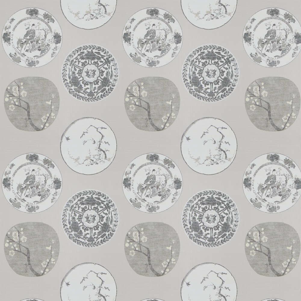JAB Anstoetz  Okirai Grey / Brown / Cream Wallpaper - Product code: 4-4087-070