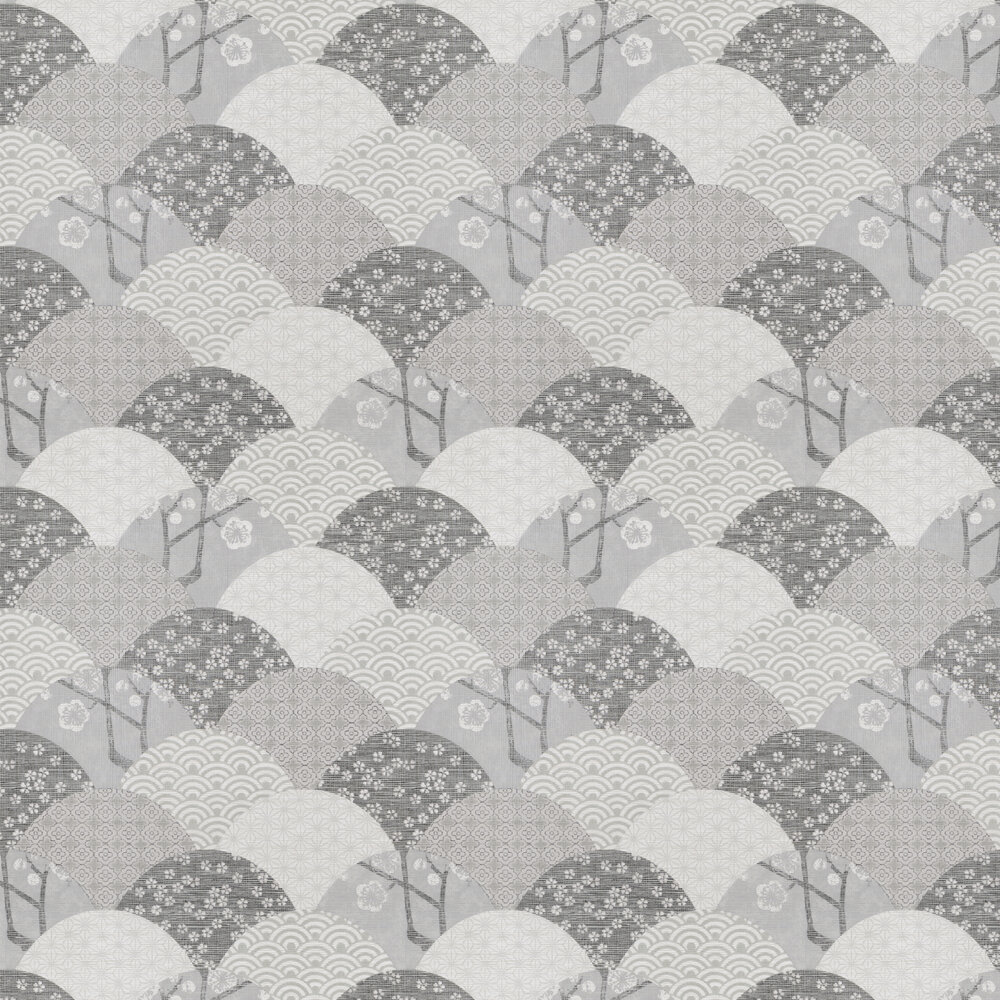Okinawa Wallpaper - Grey / Cream / Black - by JAB Anstoetz