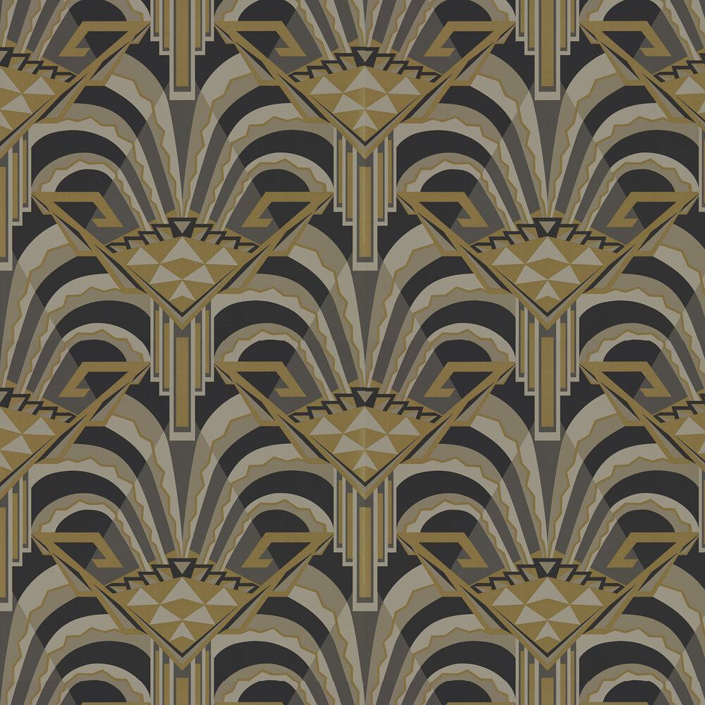 Conway Wallpaper - Antique Bronze - by Zoffany