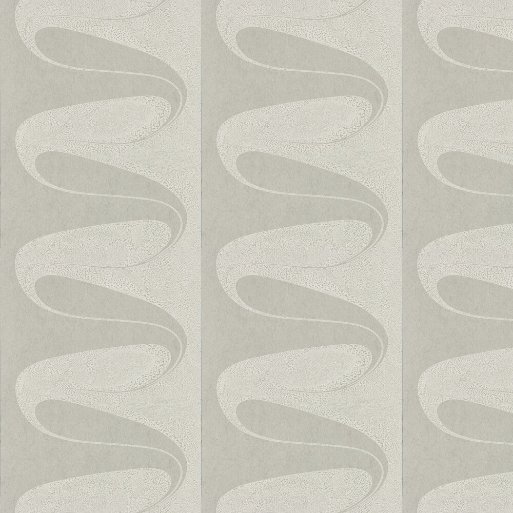 D'Arcy Wallpaper - Silver - by Zoffany