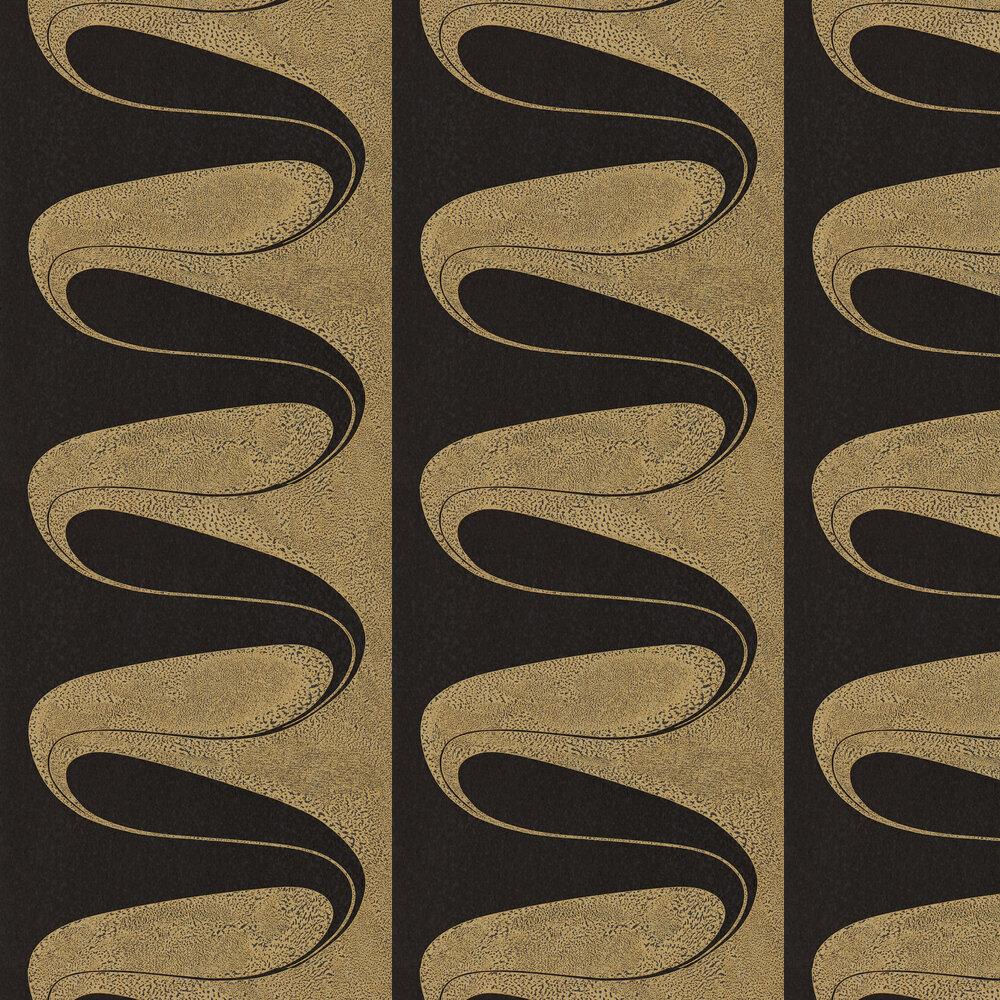 D'Arcy Wallpaper - Vine Black - by Zoffany