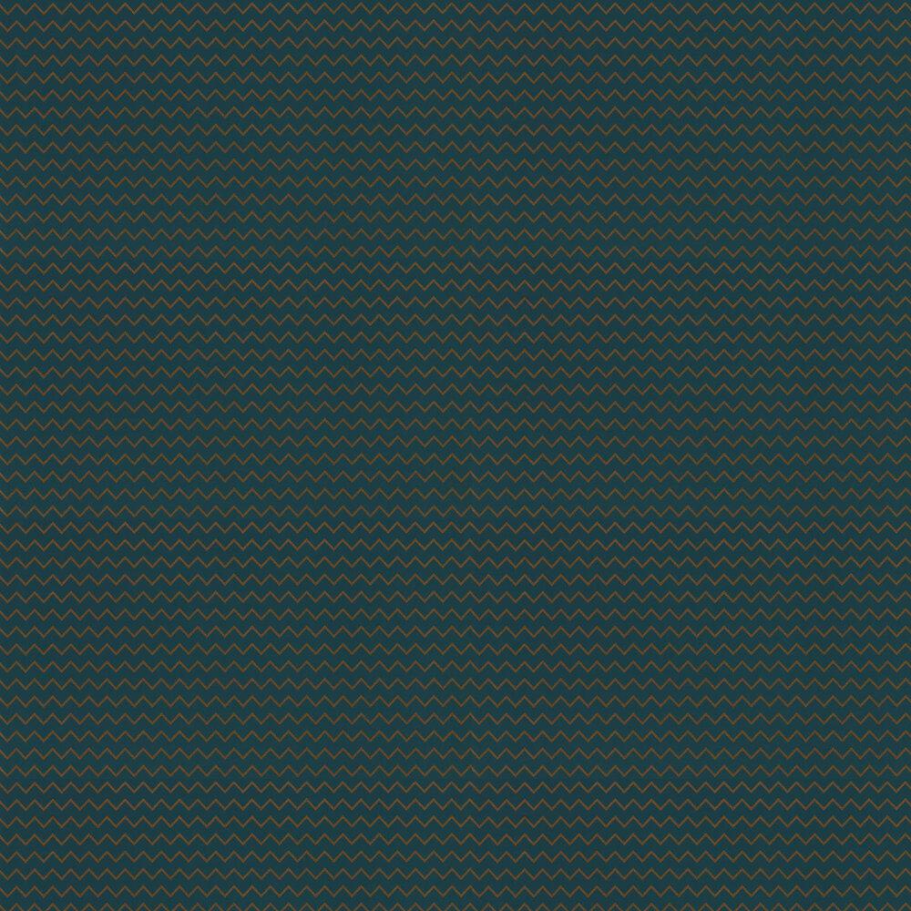Oblique Wallpaper - Prussian Blue - by Zoffany