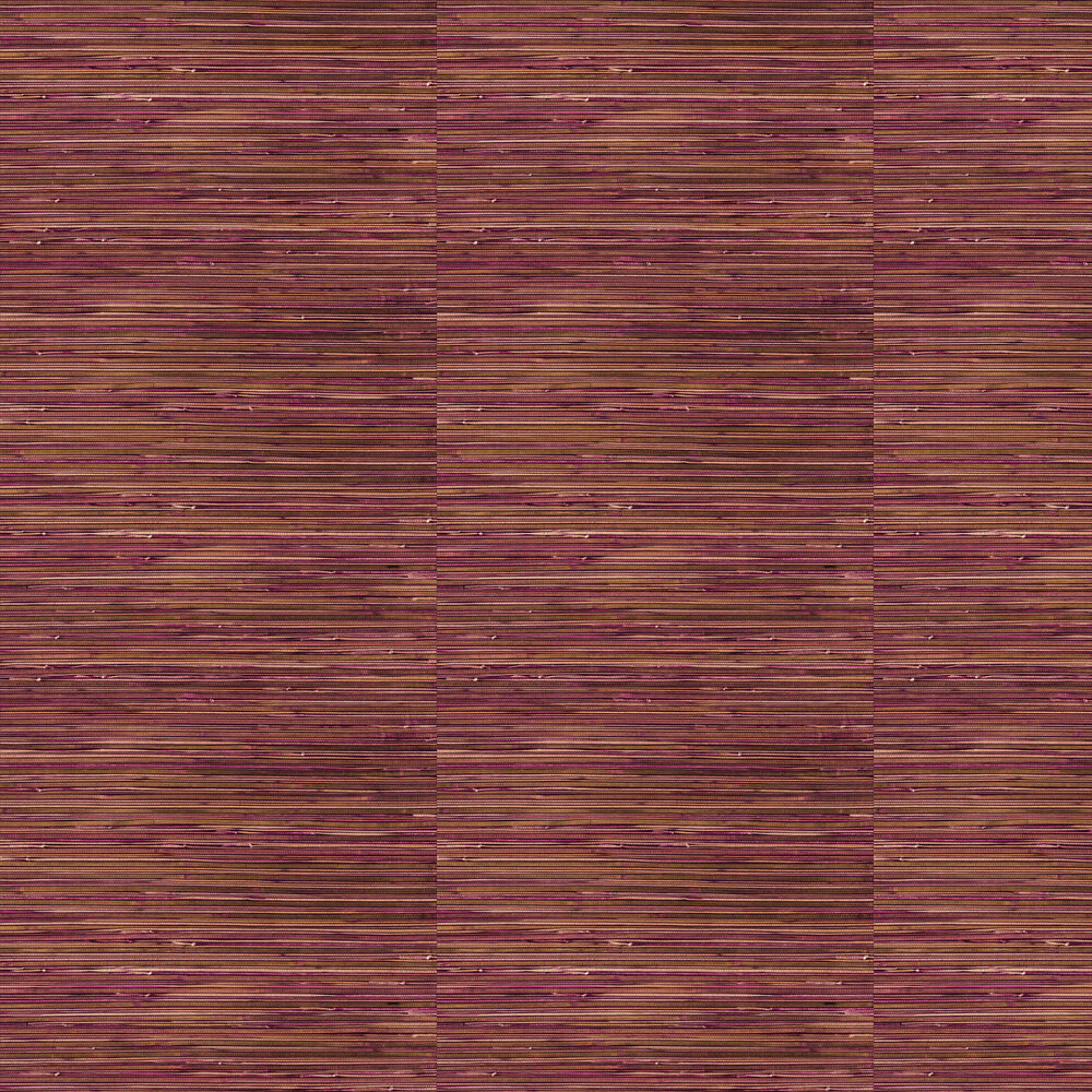 Faux Grasscloth Wallpaper - Pink / Brown / Gold - by Brewers