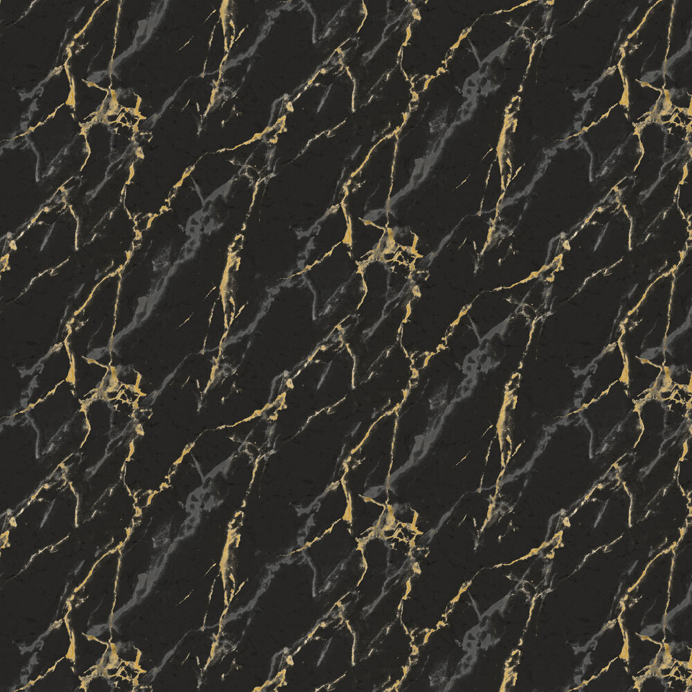 Brewers Marble Effect Black / Gold / Silver Wallpaper - Product code: SR210506