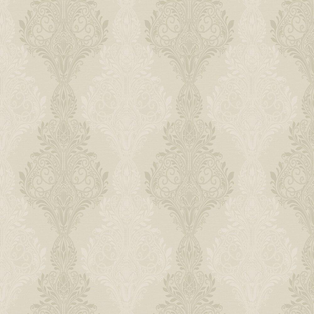 Sloane Damask Beads Wallpaper - Iridescent Gold - by SketchTwenty 3