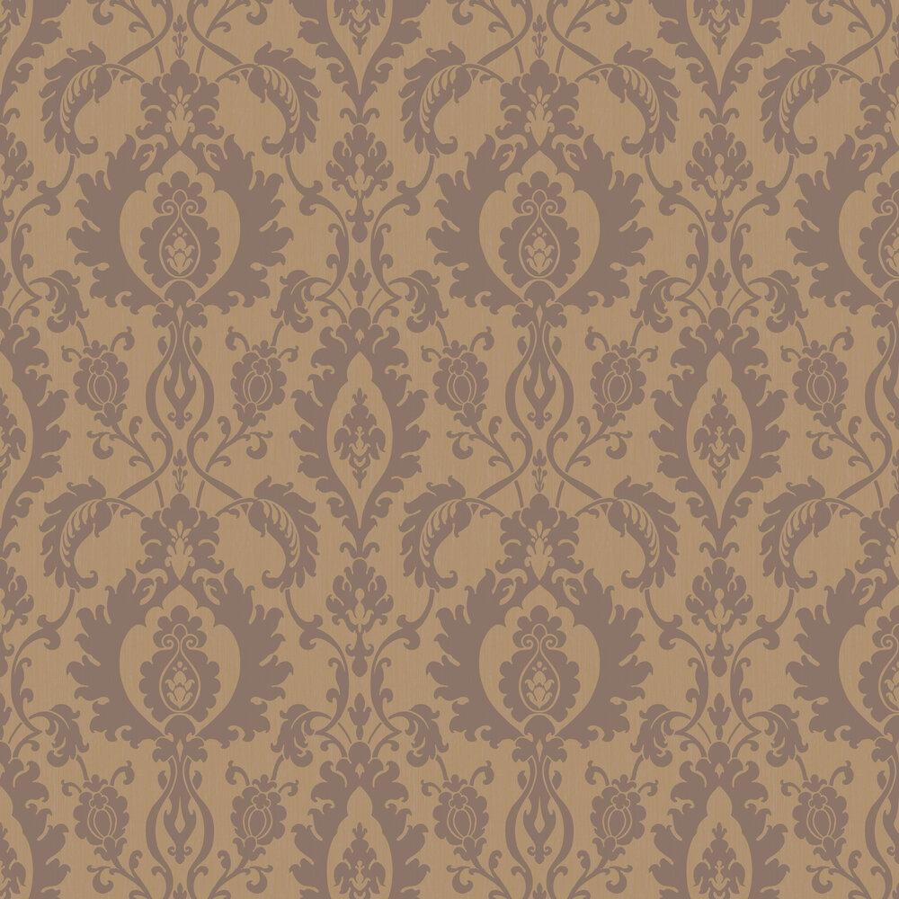 SketchTwenty 3 Bold Damask Beads Copper Wallpaper - Product code: SL00829