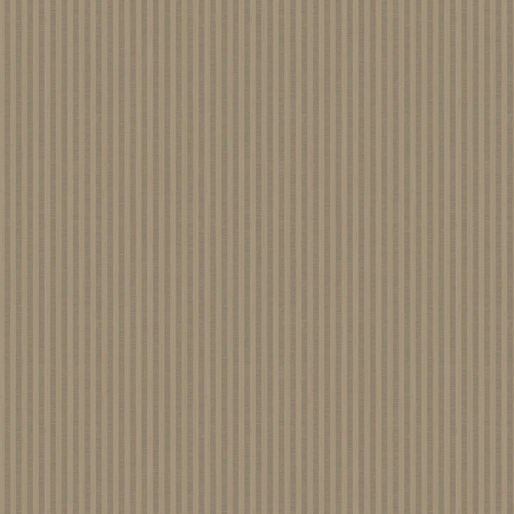 Sloane Stripe Wallpaper - Mid Brown - by SketchTwenty 3