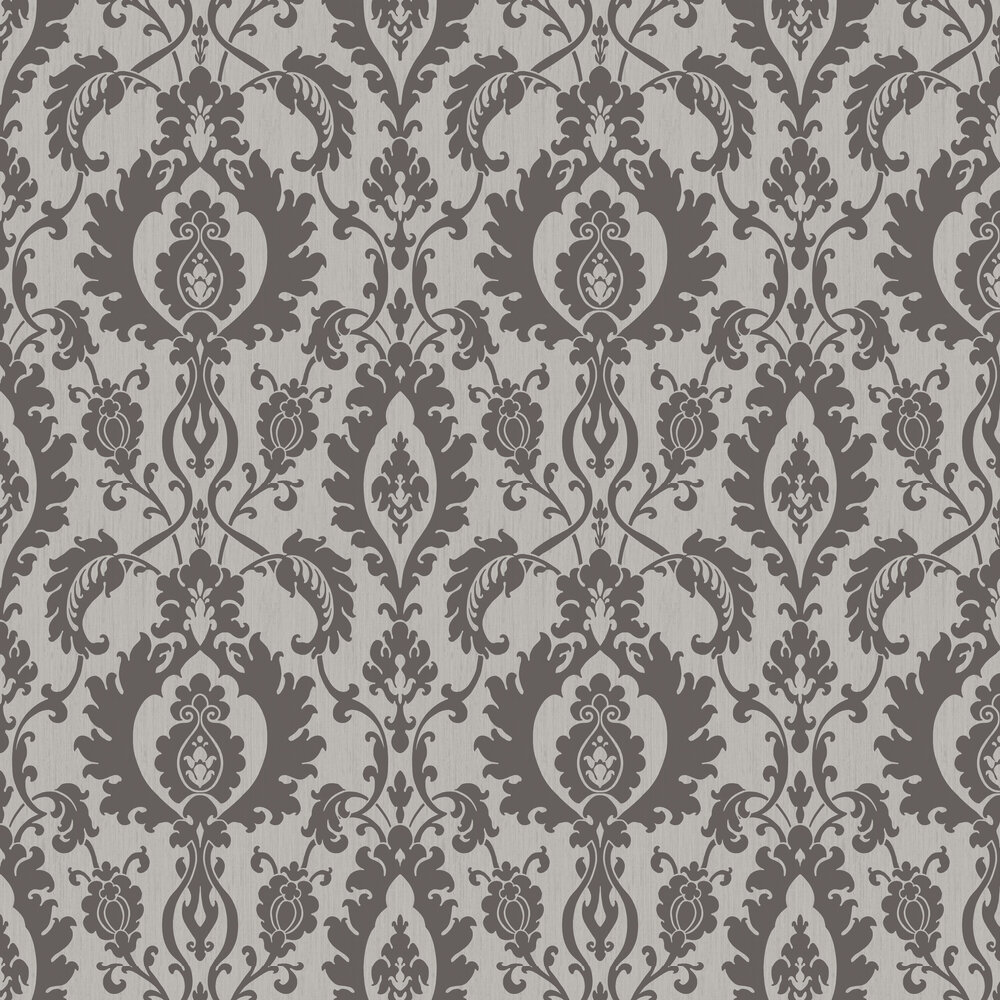 SketchTwenty 3 Bold Damask Beads Silver / Black Wallpaper - Product code: SL00830
