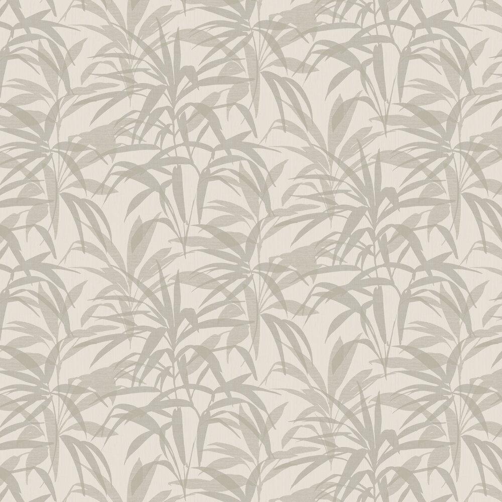 Palm Wallpaper - Silver / Cream - by SketchTwenty 3