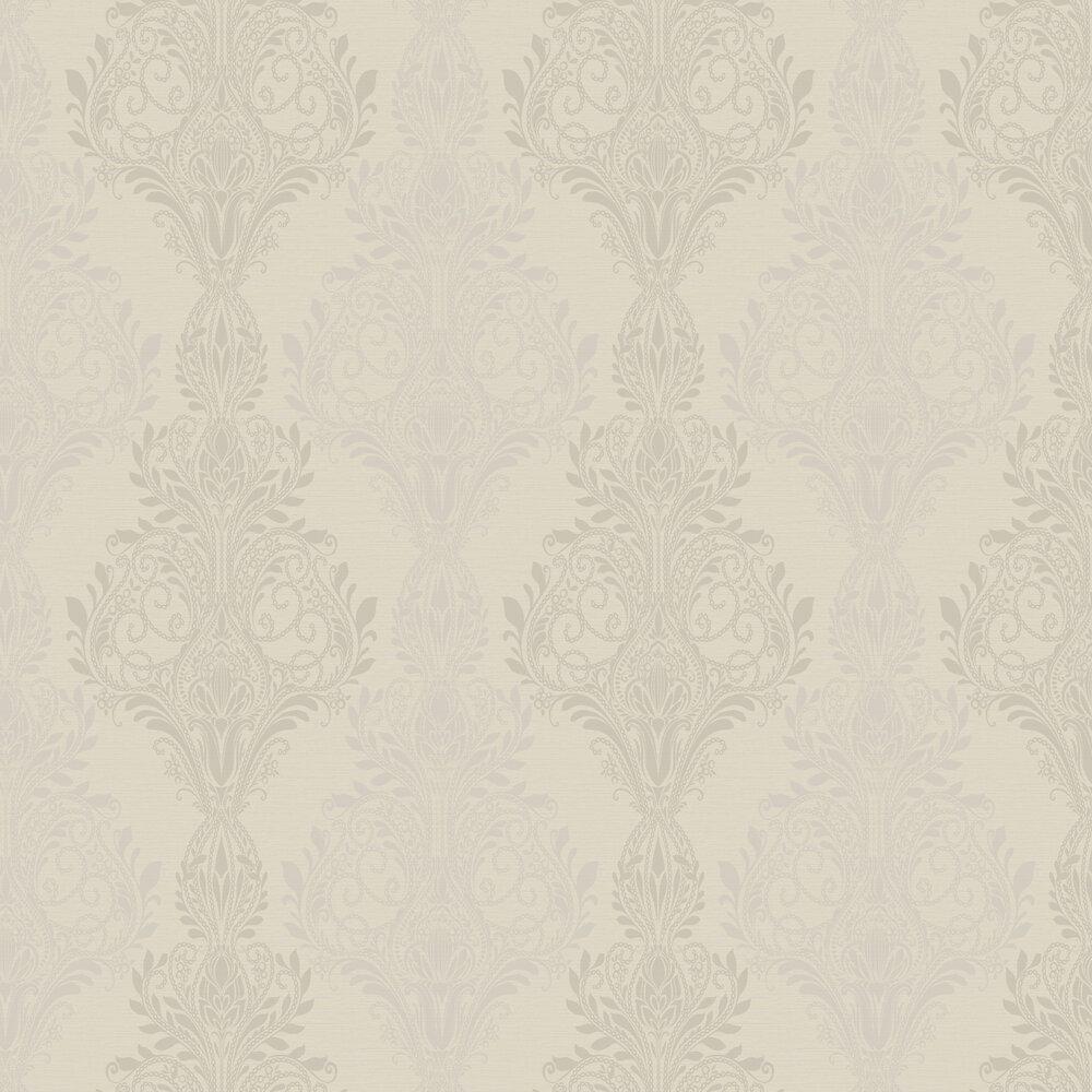 Sloane Damask Beads Wallpaper - Iridescent Straw - by SketchTwenty 3