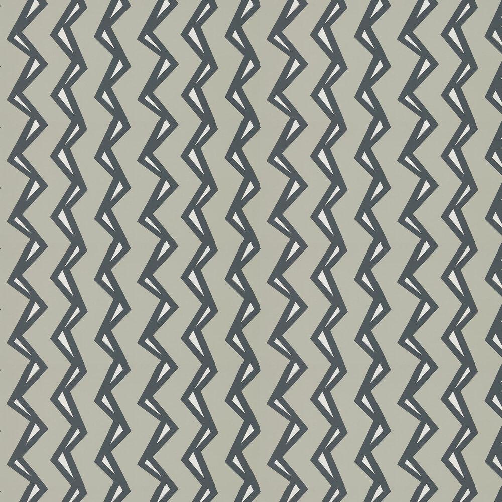 Rayo Wallpaper - Steel / Liquorice - by Scion