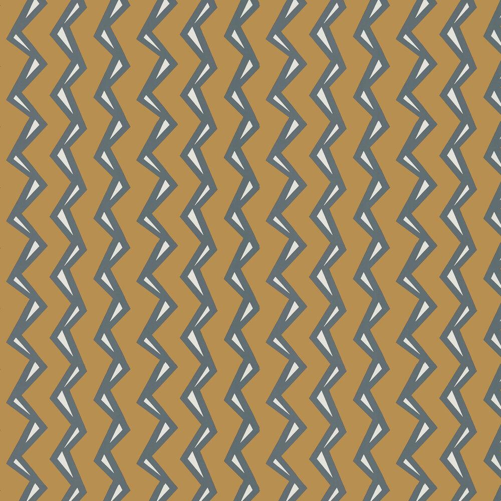 Rayo Wallpaper - Paprika / Charcoal - by Scion