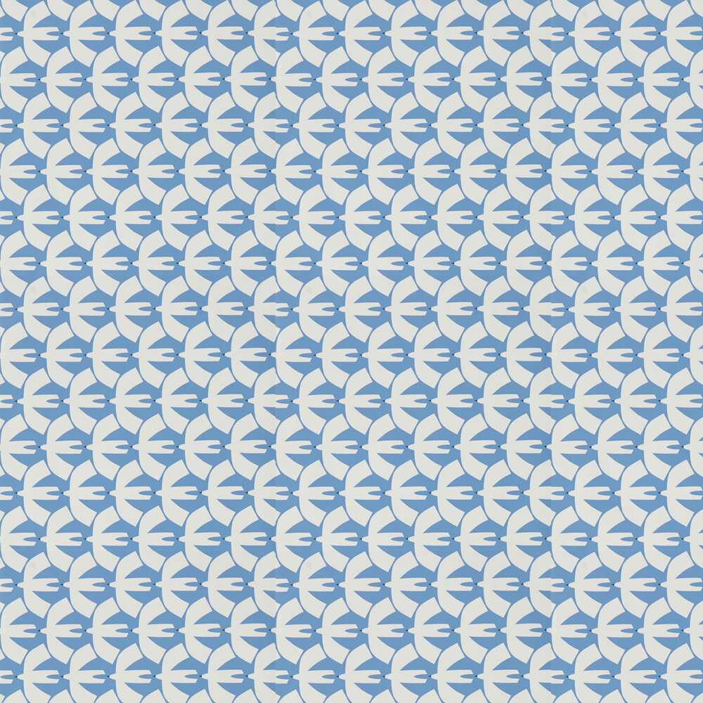 Pajaro Wallpaper - Electric Blue - by Scion