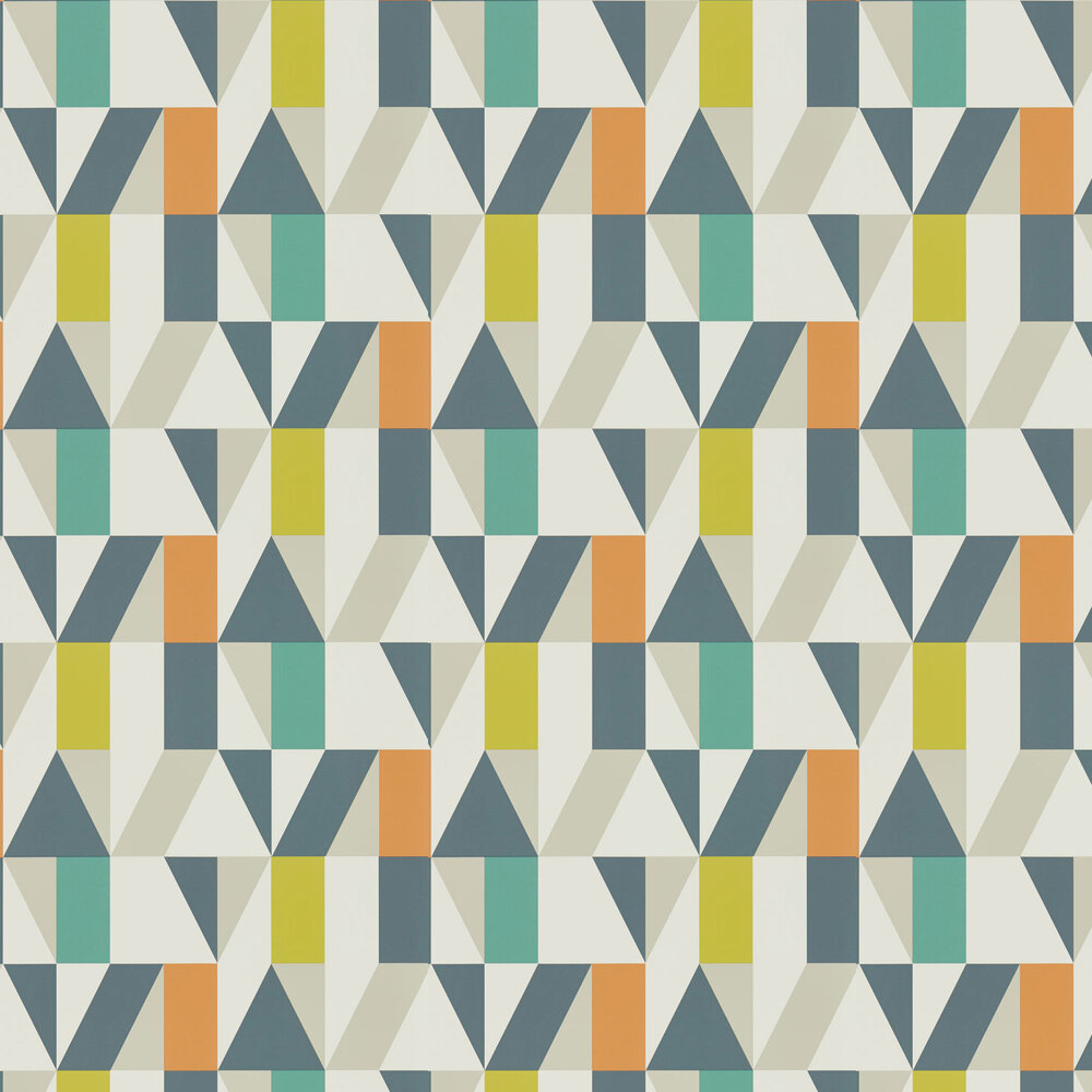 Nuevo Wallpaper - Citrus / Paprika / Forest - by Scion
