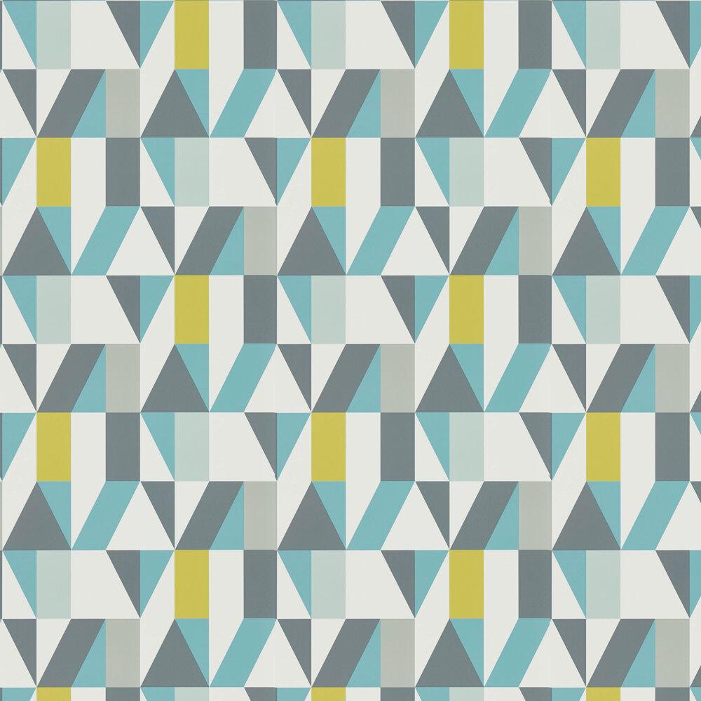 Nuevo Wallpaper - Marine / Midnight / Kiwi - by Scion