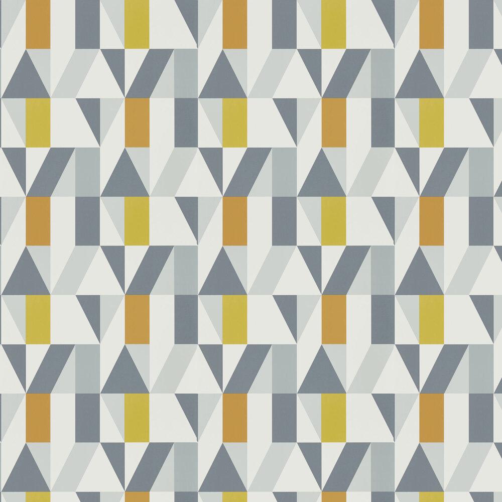 Nuevo Wallpaper - Dandelion / Charcoal / Brick - by Scion