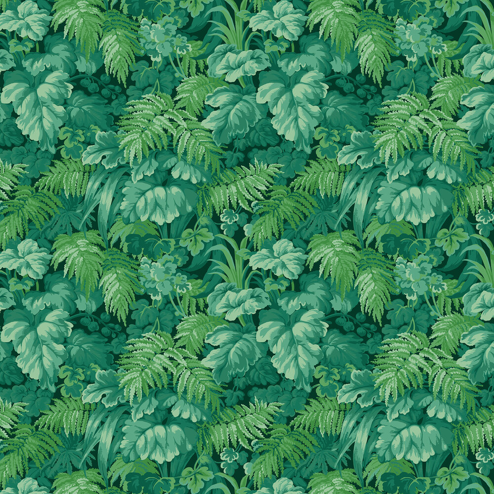 Royal Fernery Wallpaper - Forest Green - by Cole & Son
