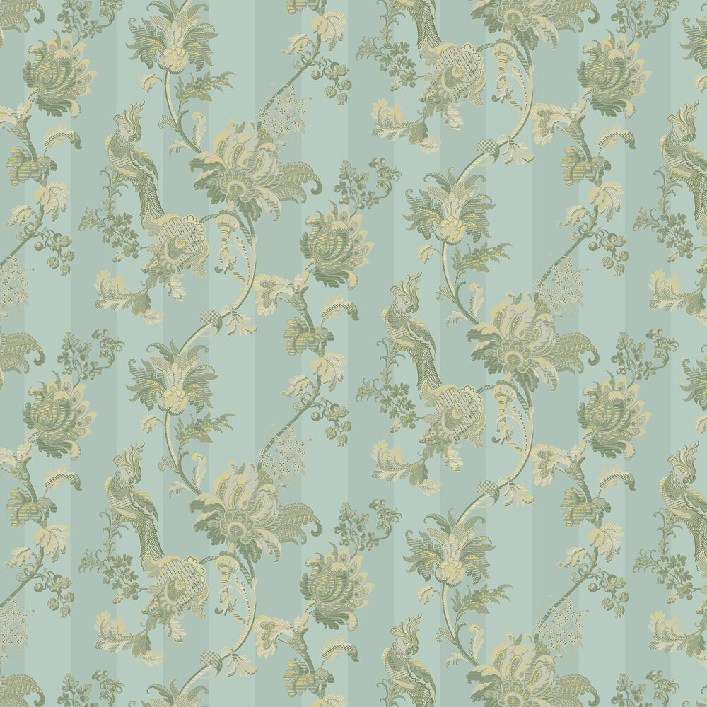 Cole & Son Zerzura Duck Egg / Olive Wallpaper - Product code: 113/8020