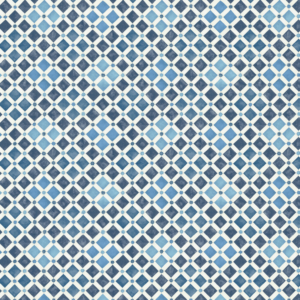 Cole & Son Zellige China Blue / White Wallpaper - Product code: 113/11032