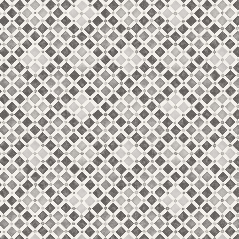 Zellige Wallpaper - Soot / Snow - by Cole & Son