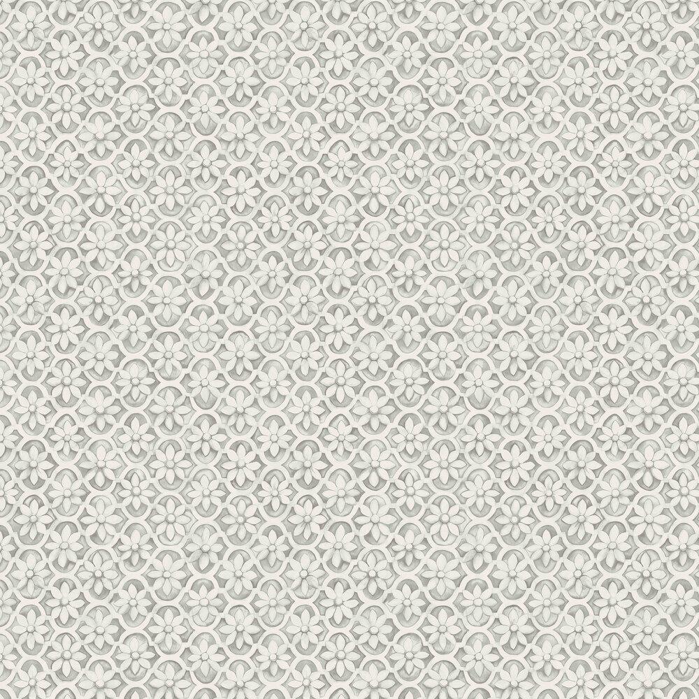 Jali Trellis Wallpaper - Stone - by Cole & Son