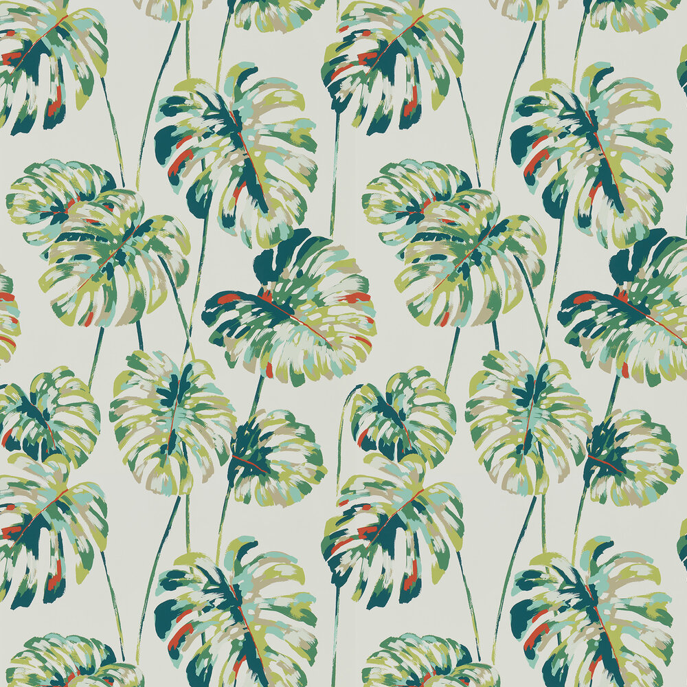 Kelapa Wallpaper - Emerald / Zest - by Harlequin
