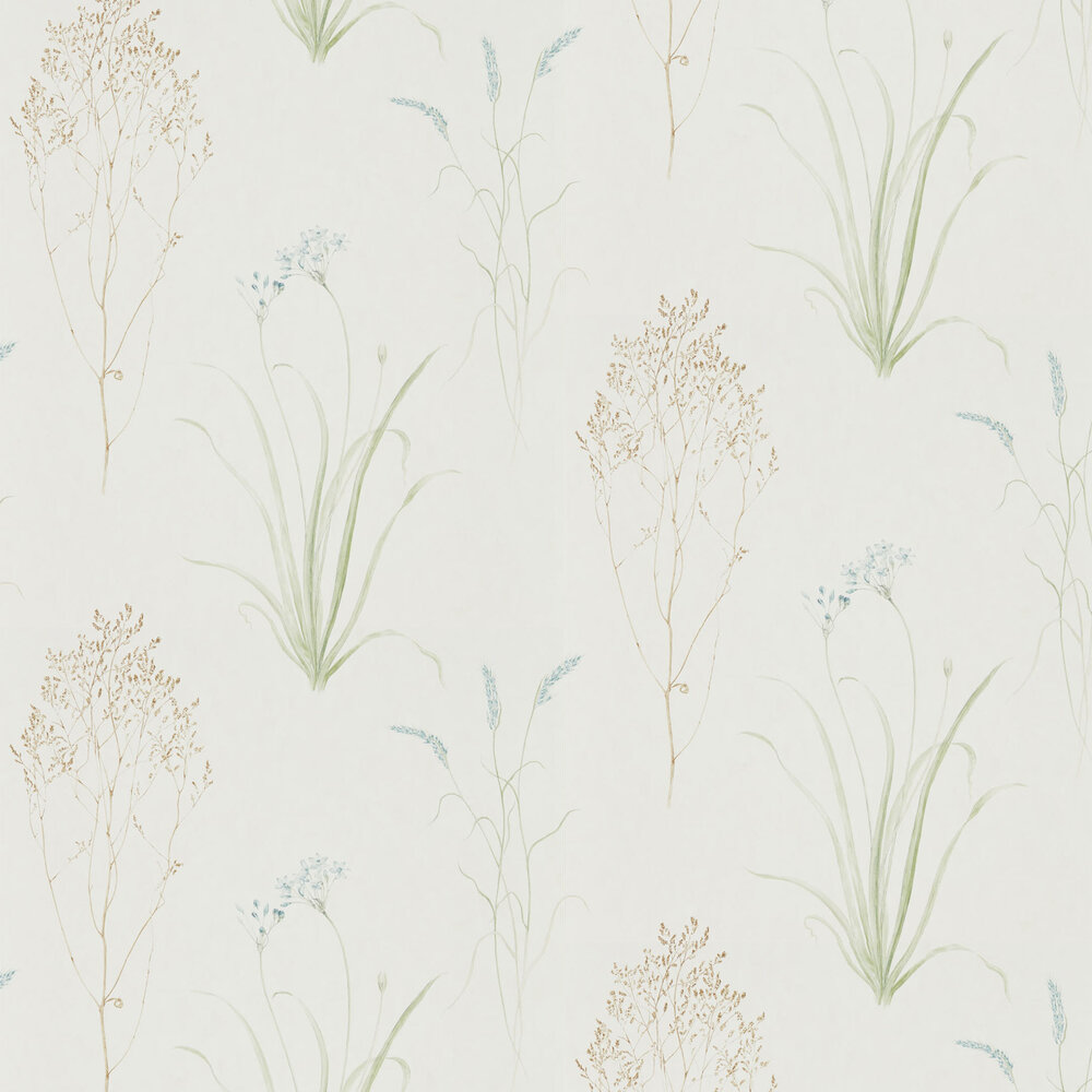 Sanderson Farne Grasses Sage / Cream Wallpaper - Product code: 216486