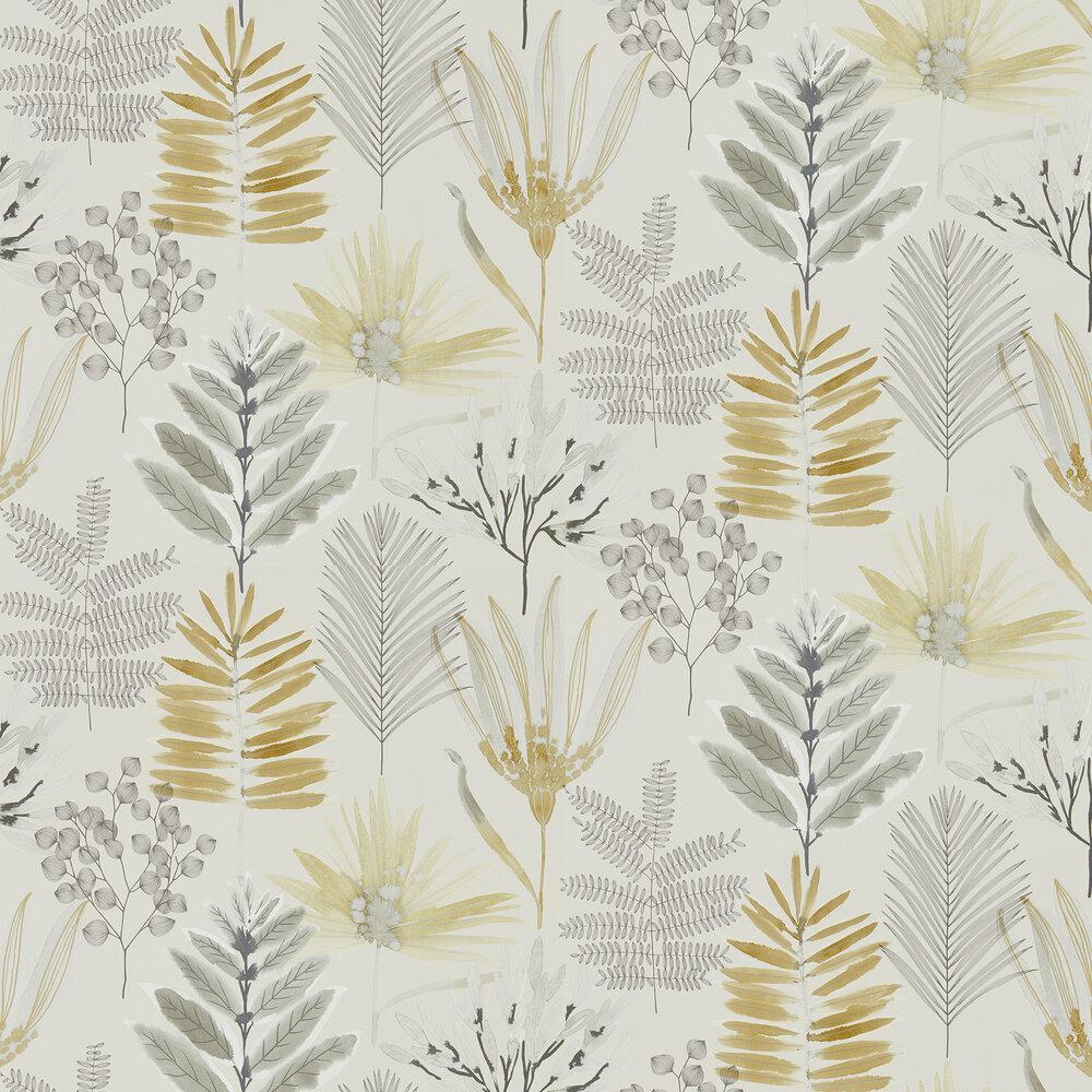 Yasuni Wallpaper - Ochre / Linen - by Harlequin