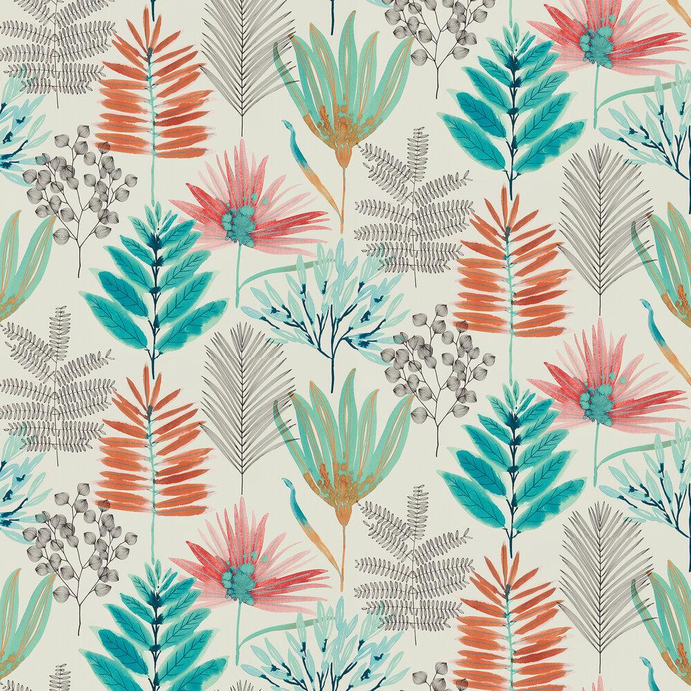 Yasuni Wallpaper - Paprika / Kiwi - by Harlequin