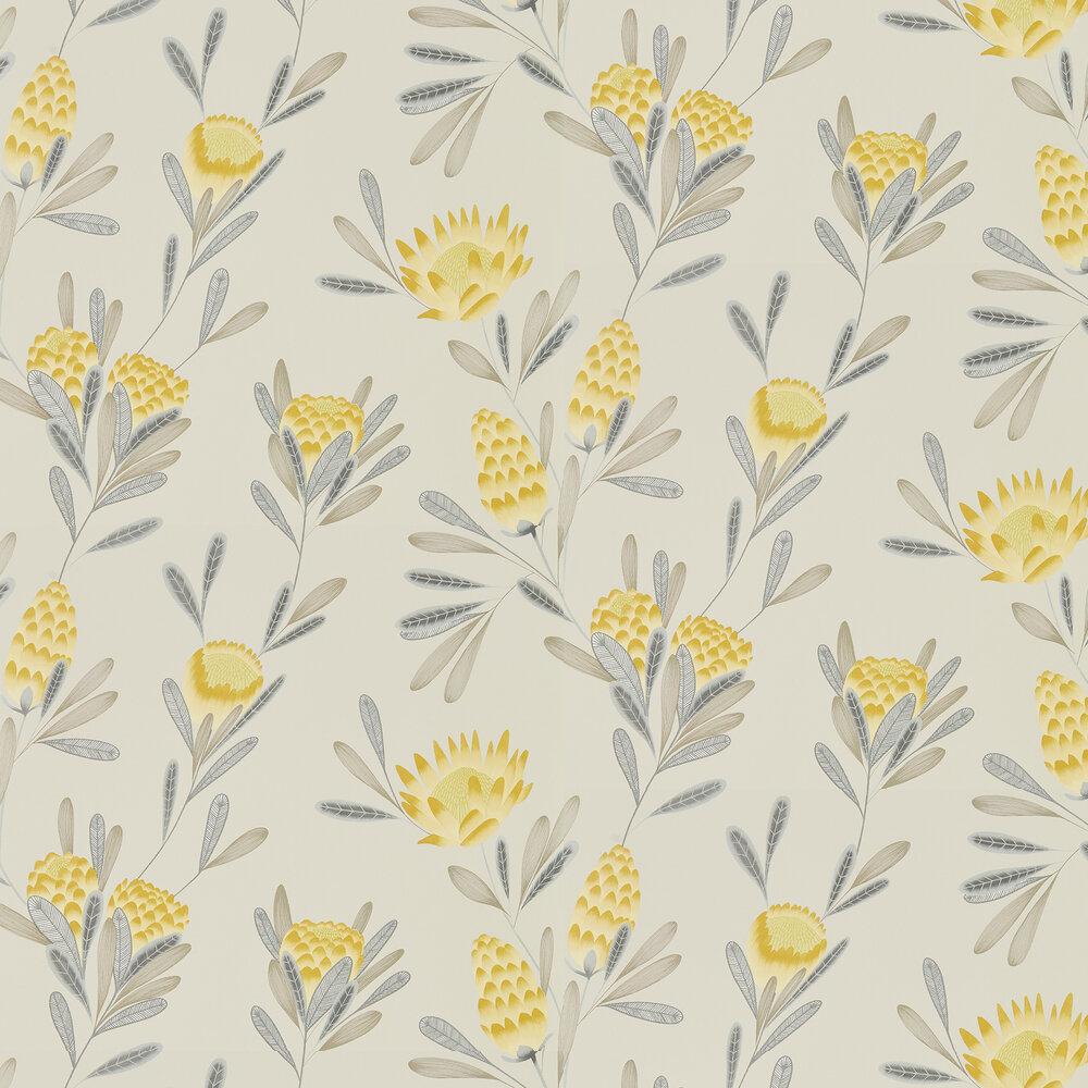 Cayo Wallpaper - Ochre / Linen - by Harlequin