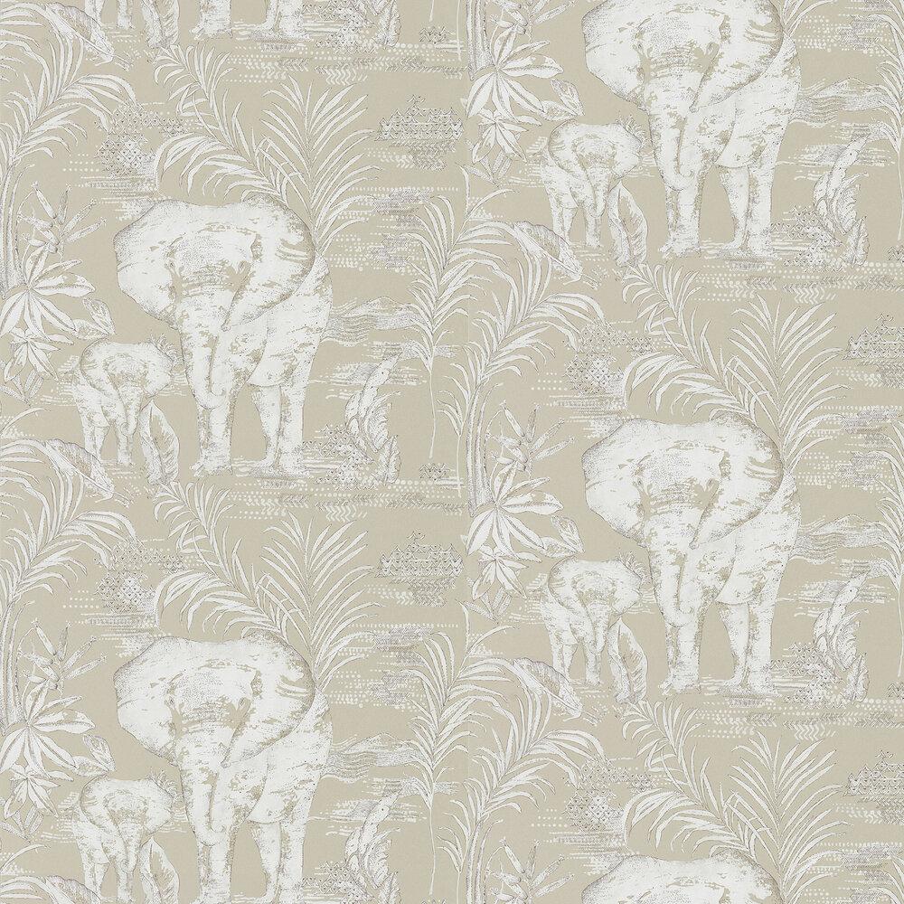 Kinablu Wallpaper - Linen - by Harlequin