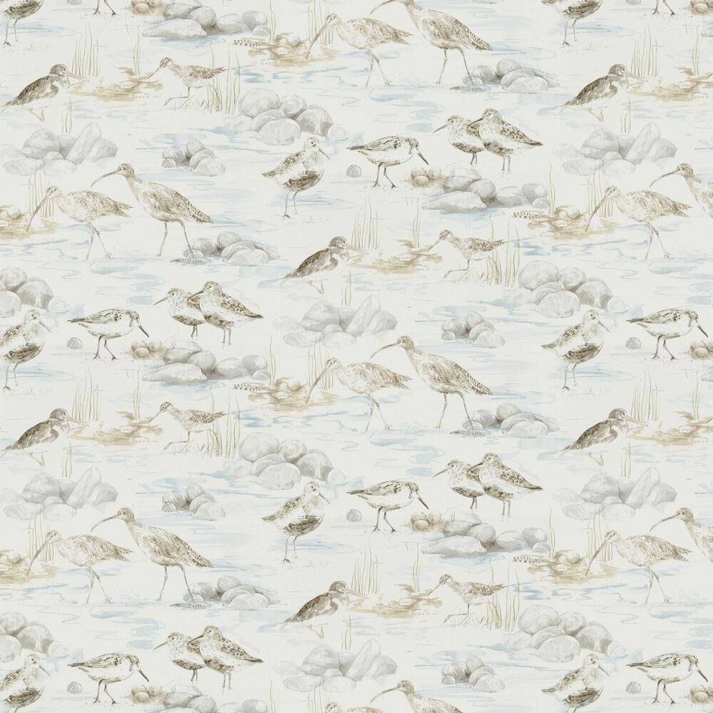 Estuary Birds Wallpaper - Blue / Grey - by Sanderson