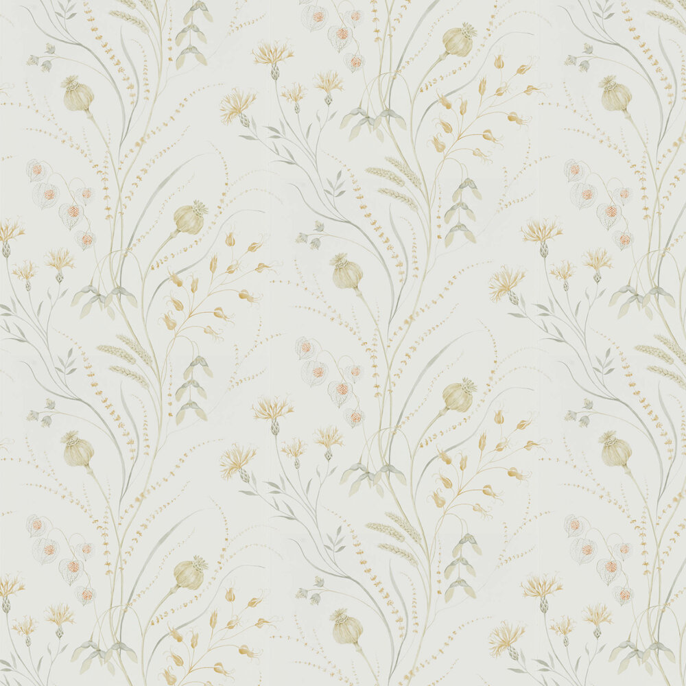 Summer Harvest Wallpaper - Silver / Corn - by Sanderson