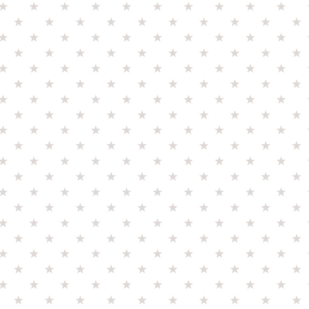 Stars Wallpaper - White / Warm Grey - by Galerie