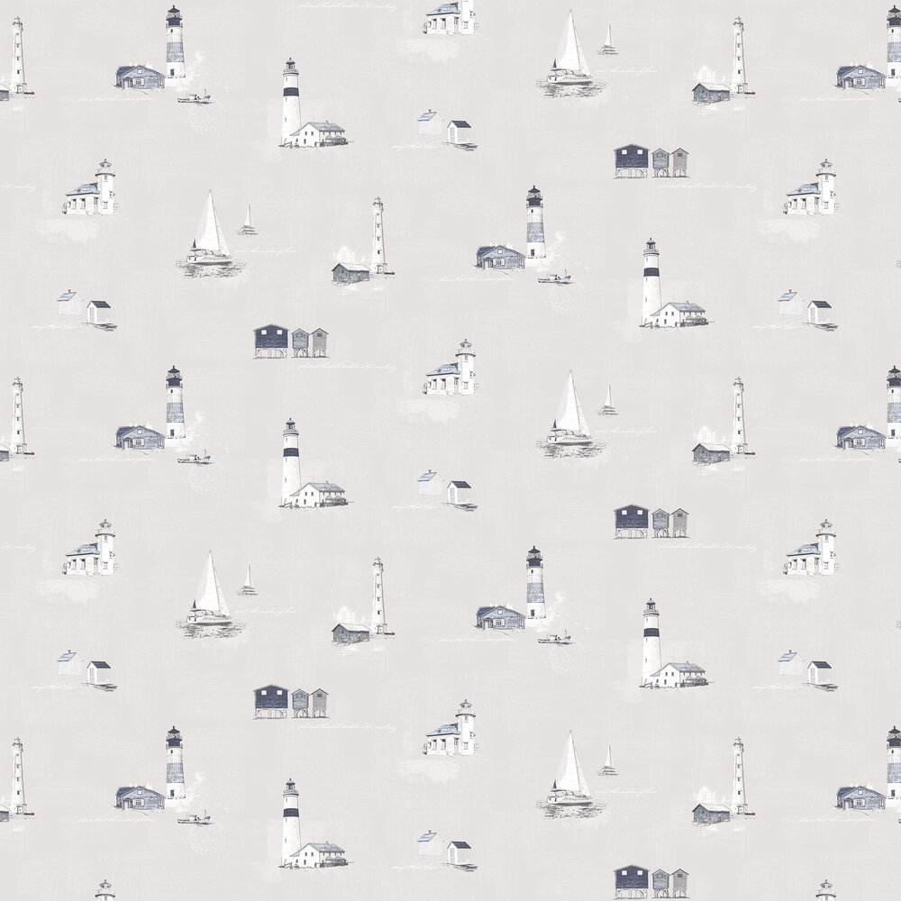 Galerie Lighthouse Warm Grey / Blue Wallpaper - Product code: G23312