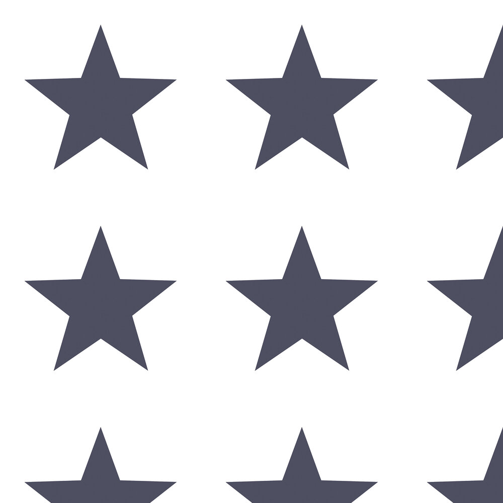 Giant Star Wallpaper - Navy - by Galerie