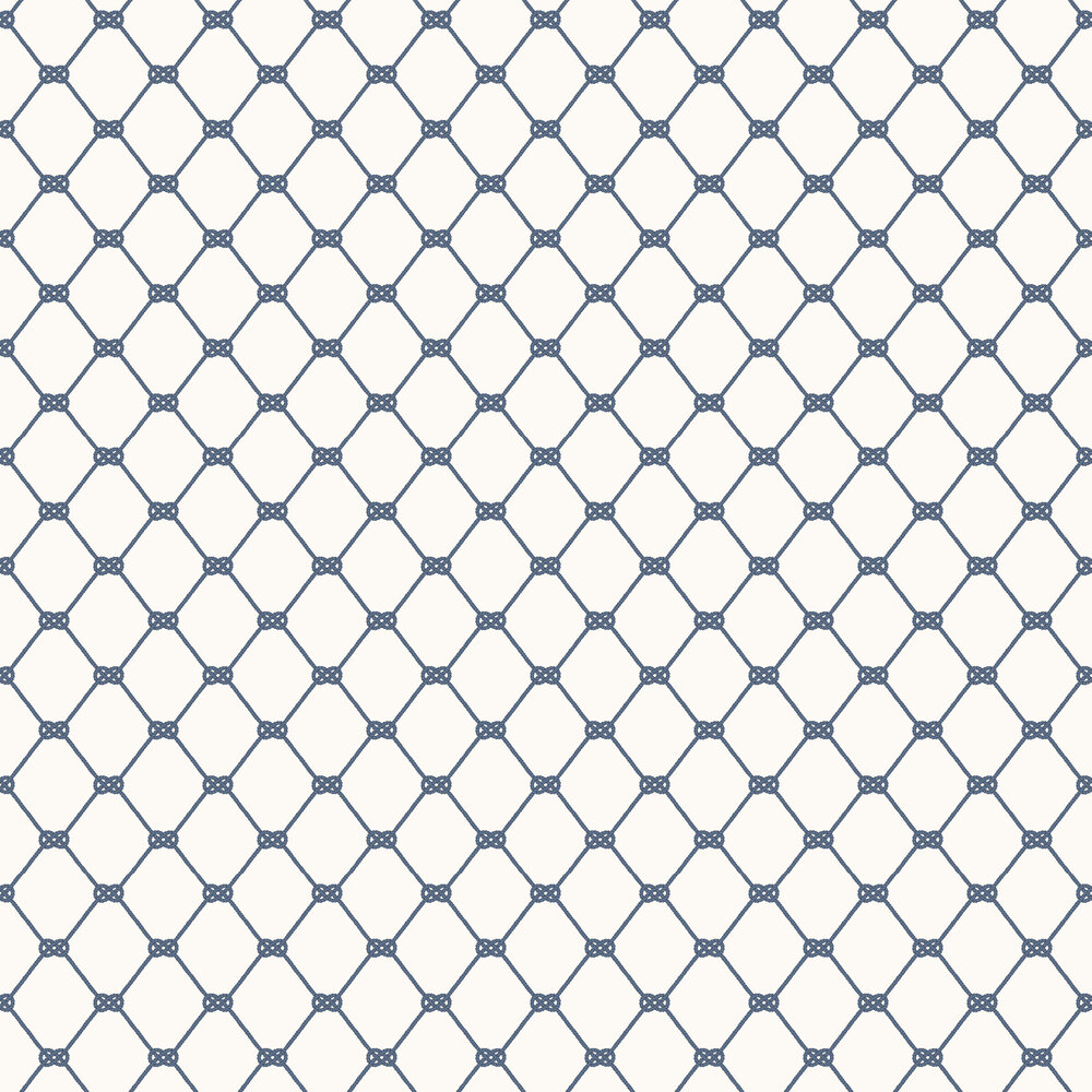 Galerie Nautical Knot White / Navy Wallpaper - Product code: G23345