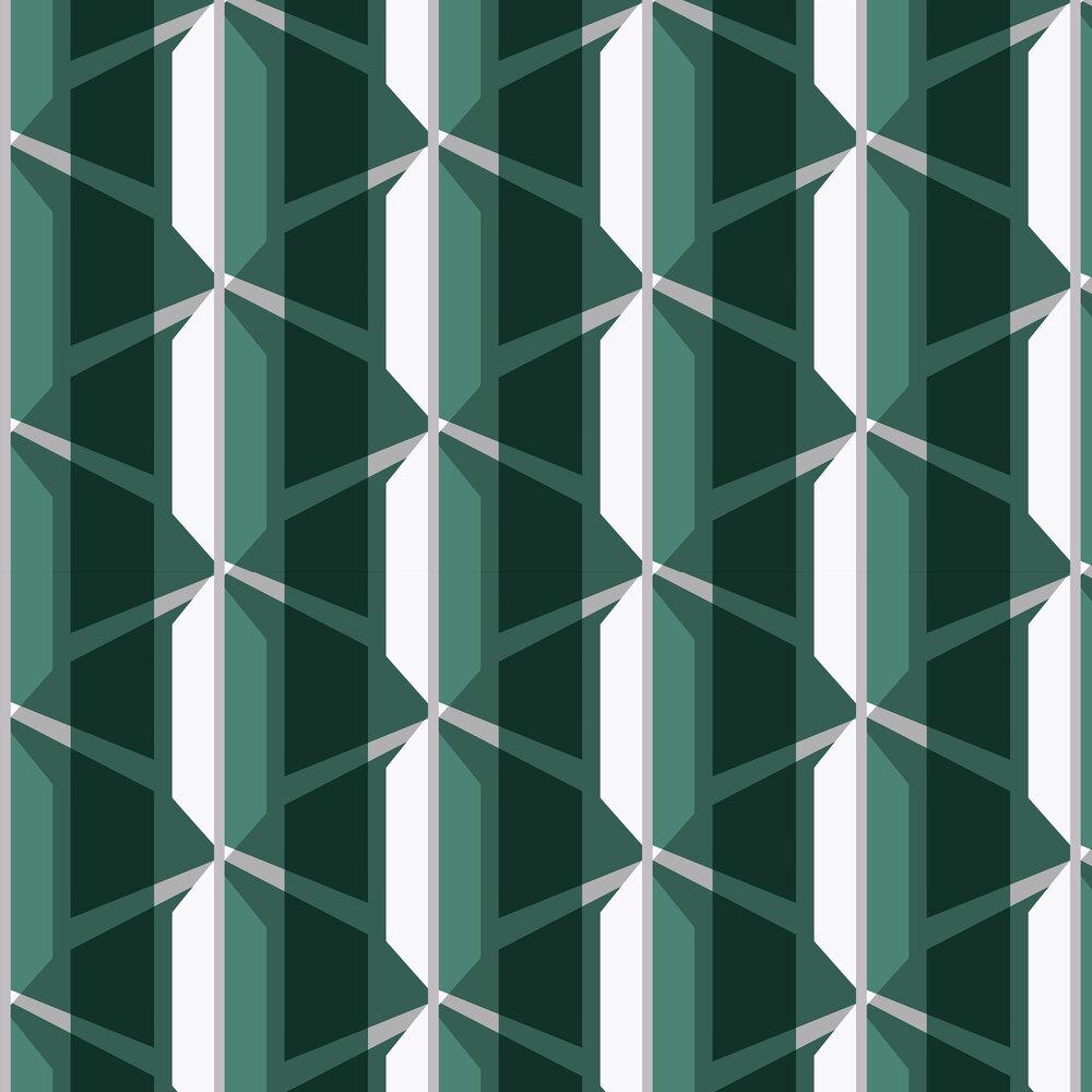Gosford Wallpaper - Green - by Leigh Bagley