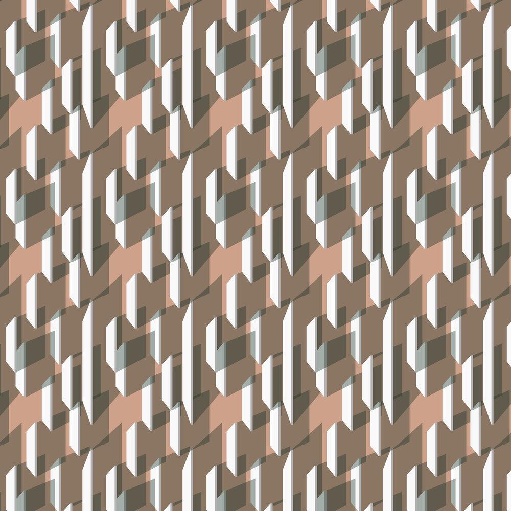 Moni Wallpaper - Brown - by Leigh Bagley