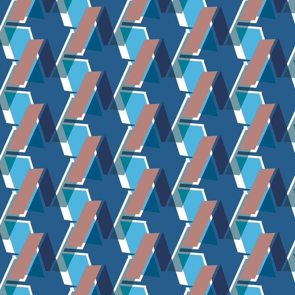Leigh Bagley Saltoun Blue Wallpaper - Product code: LB-S397