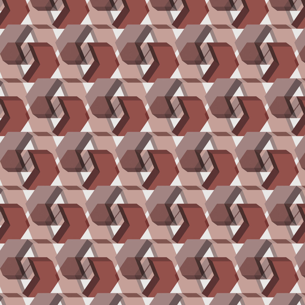 Leigh Bagley Seton Red Wallpaper - Product code: LB-S398