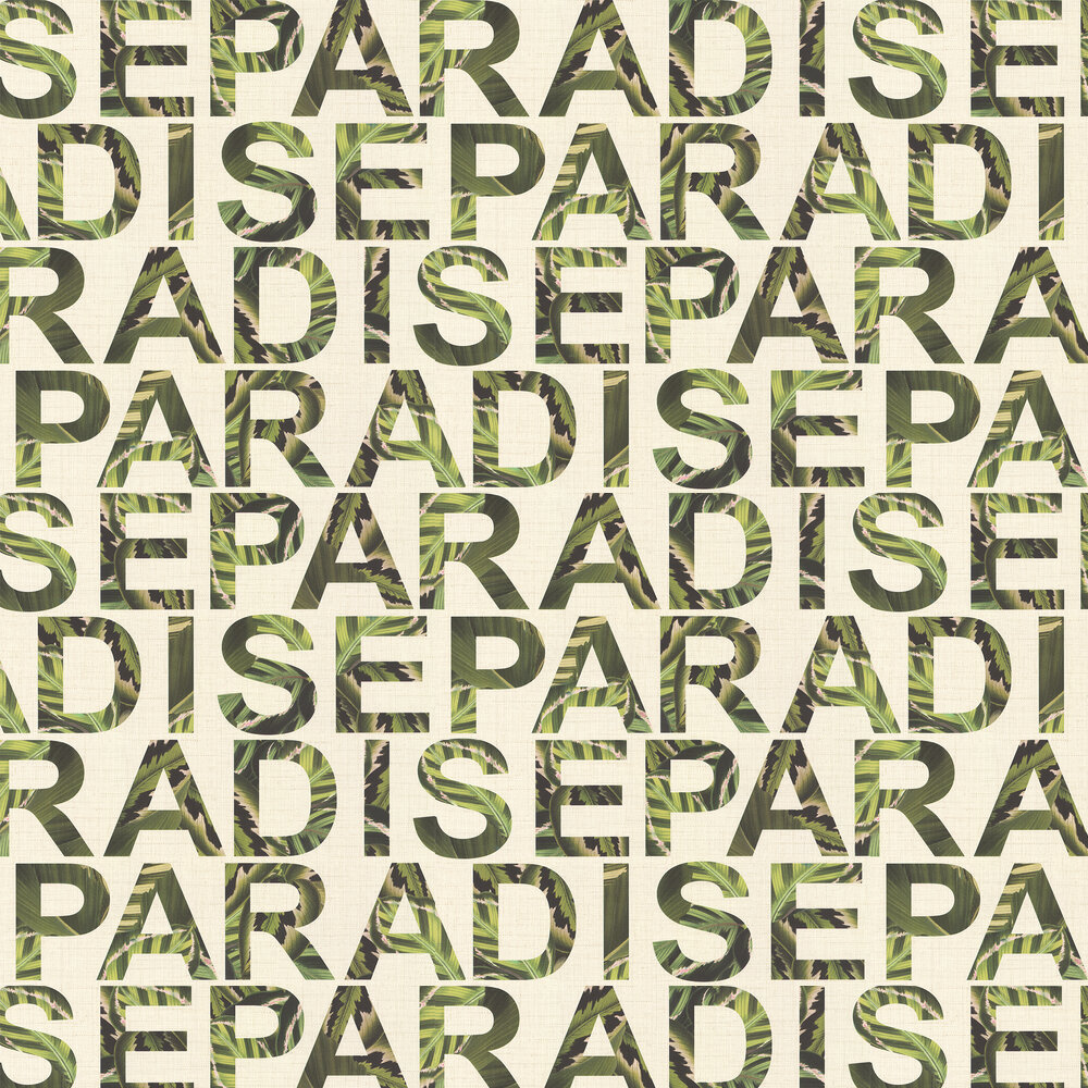 Paradise Wallpaper - Green - by Albany