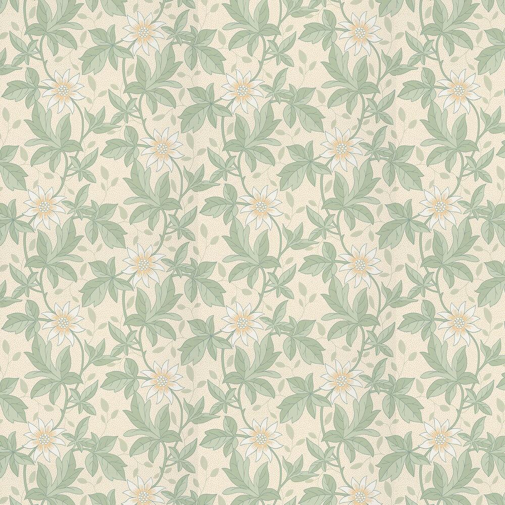 Monroe Wallpaper - Gold Flower - by Little Greene