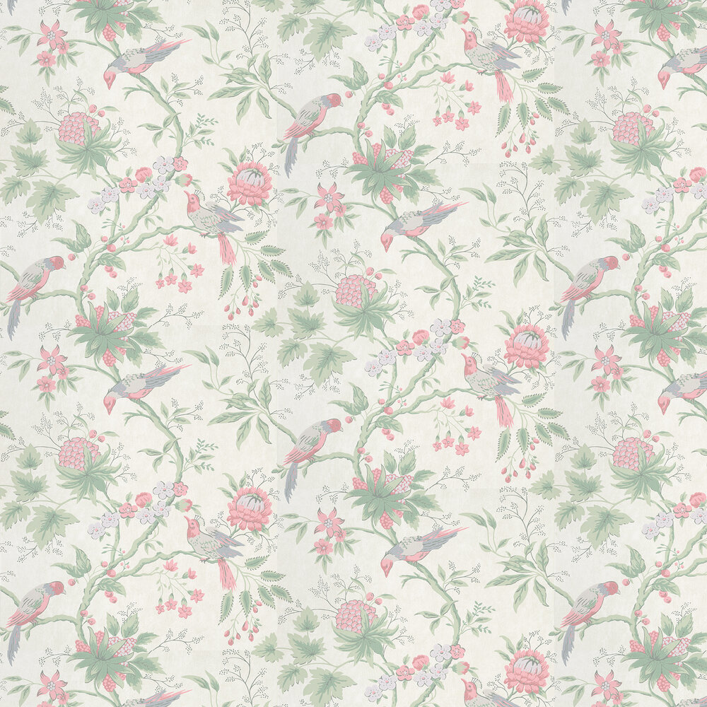 Brooke House Wallpaper - Linen - by Little Greene