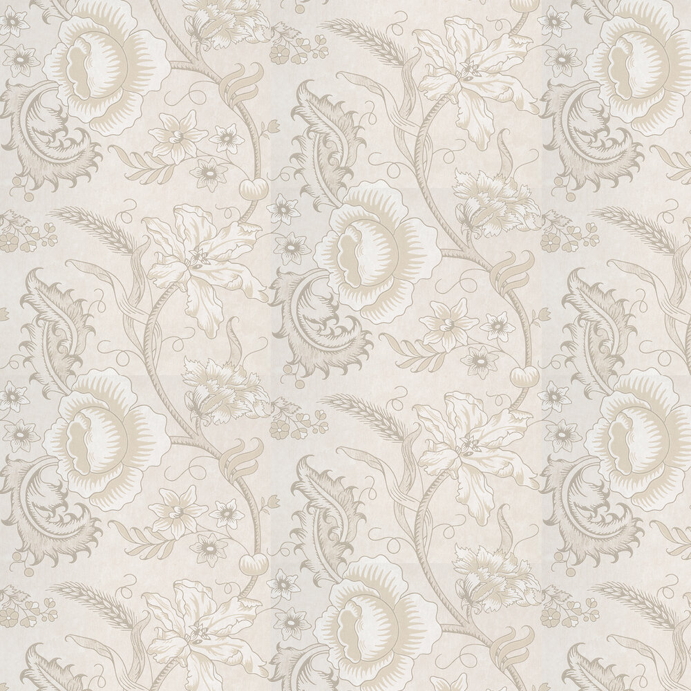 Woodblock Trail Wallpaper - Wash - by Little Greene