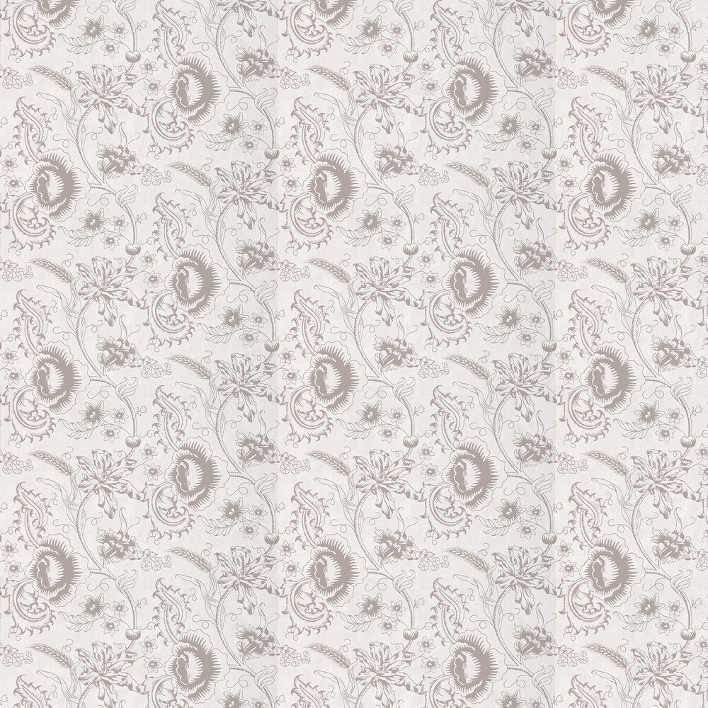 Little Greene Woodblock Mono Dolphin Wallpaper - Product code: 0291WODOLPH