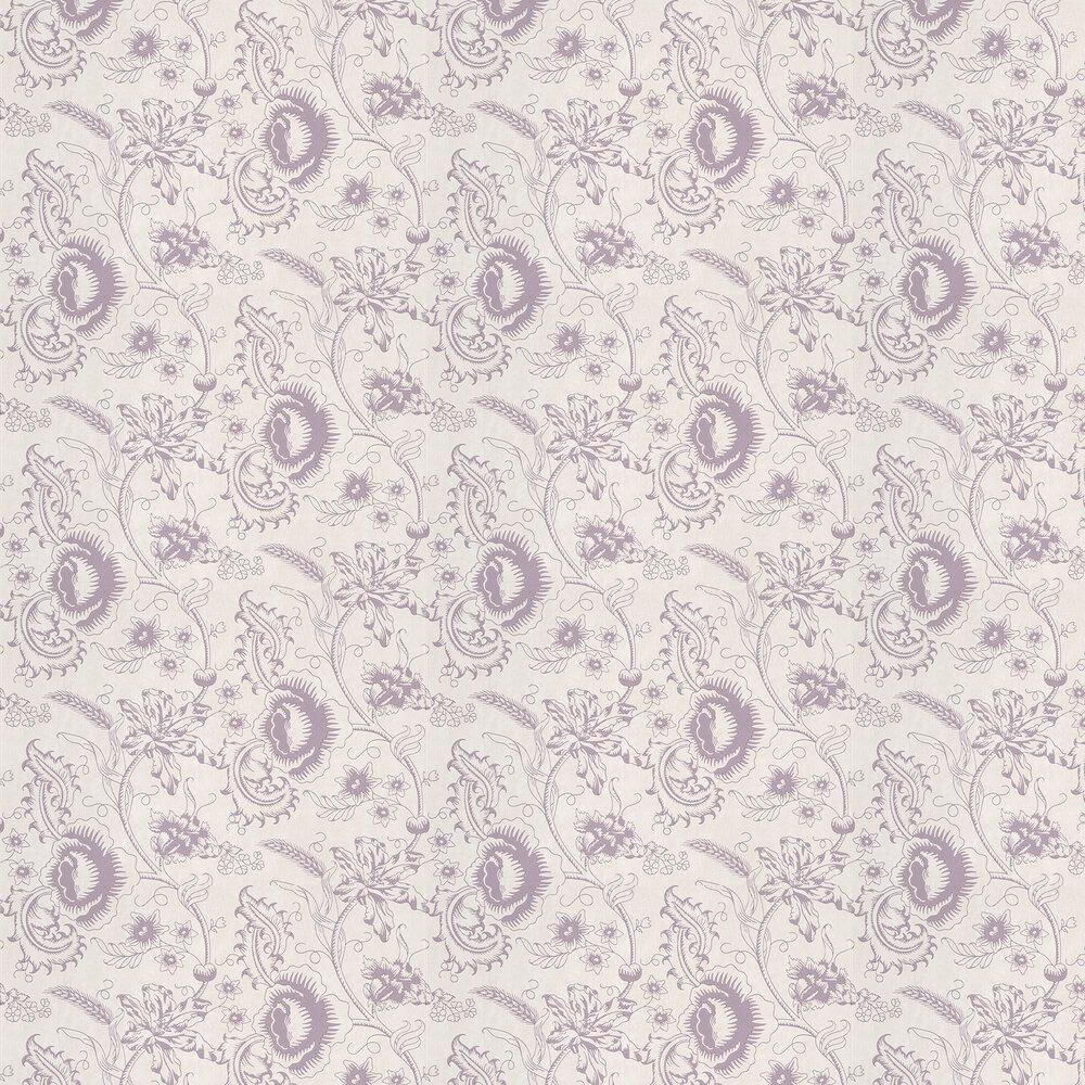 Little Greene Woodblock Mono Plum Wallpaper - Product code: 0291WOPLUMZ