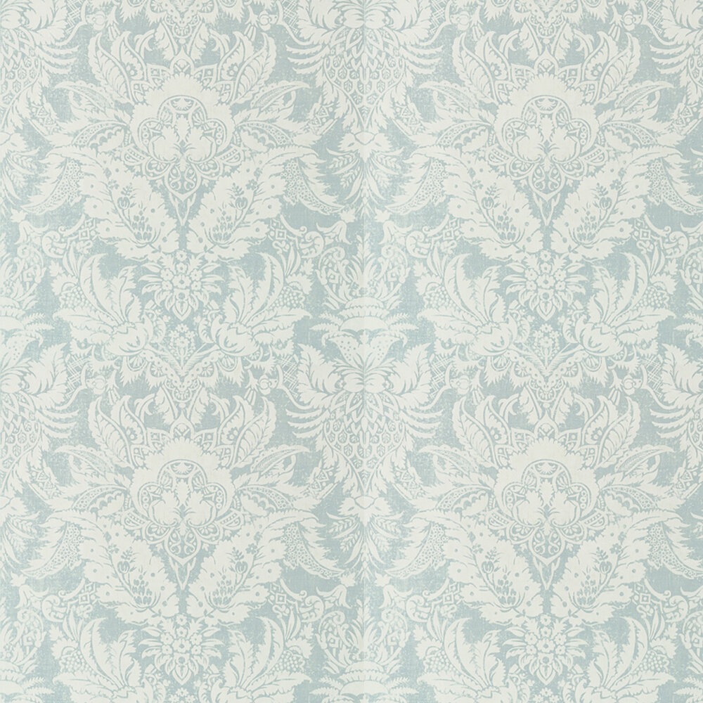 Chardonnet Damask By Thibaut Aqua Wallpaper Wallpaper Direct